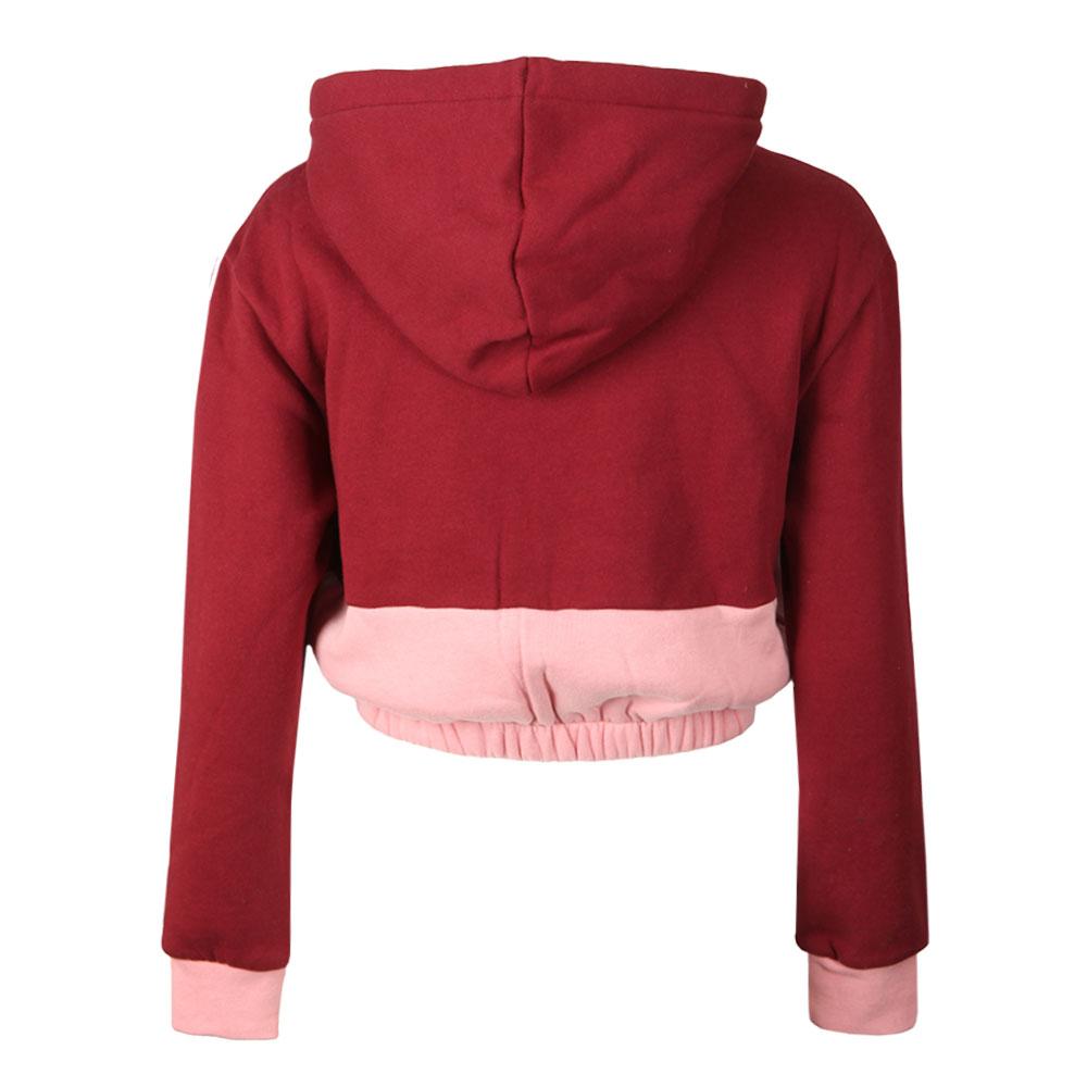 Dora Iridescent & Fleece Mix Crop Hoody main image