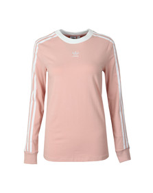 Adidas Originals Womens Pink 3 Stripes LS Tee