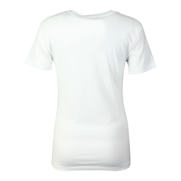 Calvin Klein Jeans Womens White Institutional Flock T Shirt main image