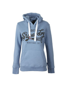 Superdry Womens Black Emboss Glitter Entry Hoody