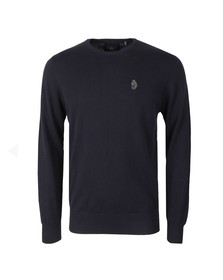 Luke 1977 Mens Blue Stevie Crew Neck Jumper