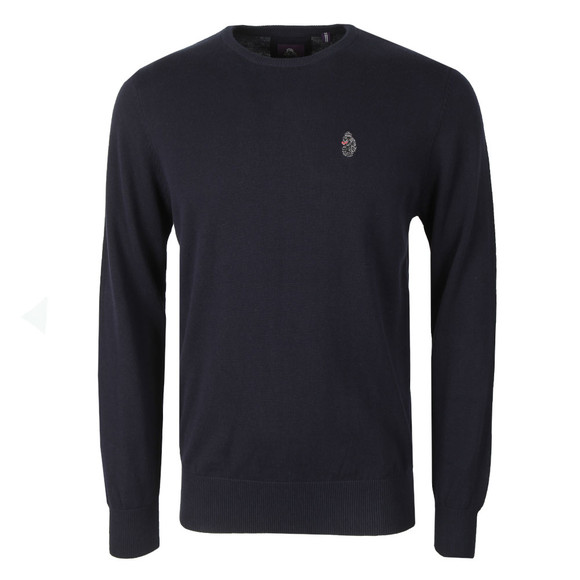 Luke 1977 Mens Blue Stevie Crew Neck Jumper main image