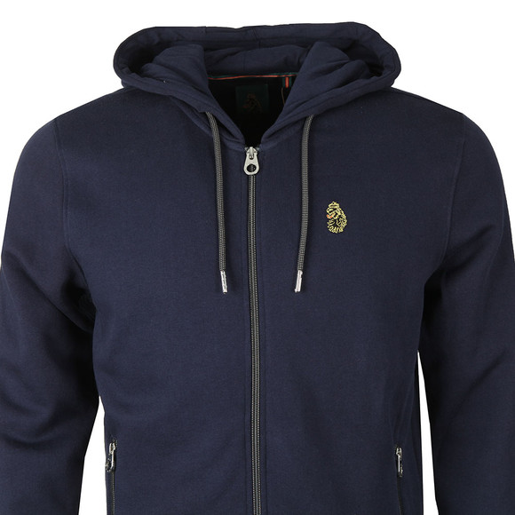 Luke Mens Blue Berlin 2 Zip Through Hoody main image