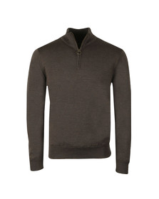 Barbour Lifestyle Mens Brown Gamlin 1/2 Zip Jumper
