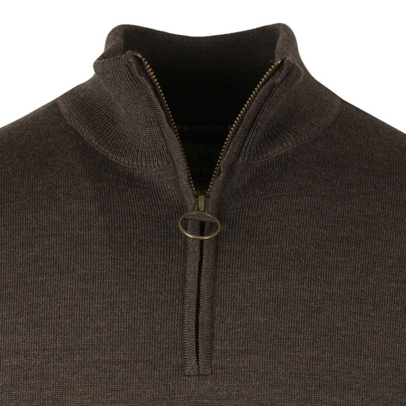 Barbour Lifestyle Mens Brown Gamlin 1/2 Zip Jumper main image
