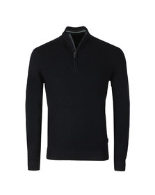 Ted Baker Mens Blue Lohas Half Zip Funnel Neck Jumper