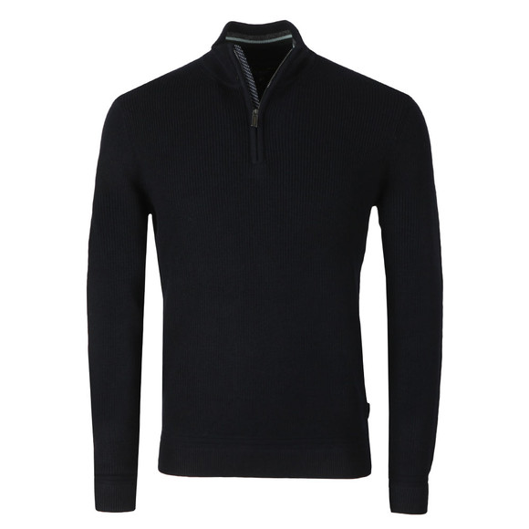 Ted Baker Mens Blue Lohas Half Zip Funnel Neck Jumper main image
