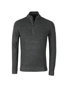 Ted Baker Mens Grey Lohas Half Zip Funnel Neck Jumper