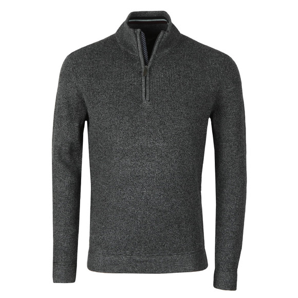 Ted Baker Mens Grey Lohas Half Zip Funnel Neck Jumper main image