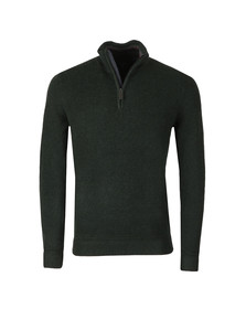 Ted Baker Mens Green Lohas Half Zip Funnel Neck Jumper