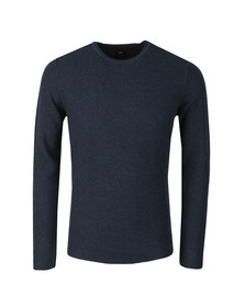 Edwin Mens Blue Terry Knit Jumper