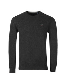 Gant Mens Grey Super Fine Lambswool Crew Jumper