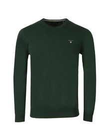 Gant Mens Green Super Fine Lambswool Crew Jumper