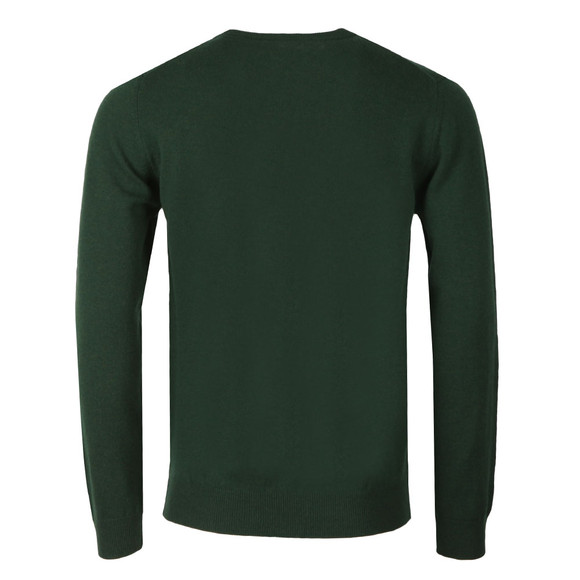 Gant Mens Green Super Fine Lambswool Crew Jumper main image