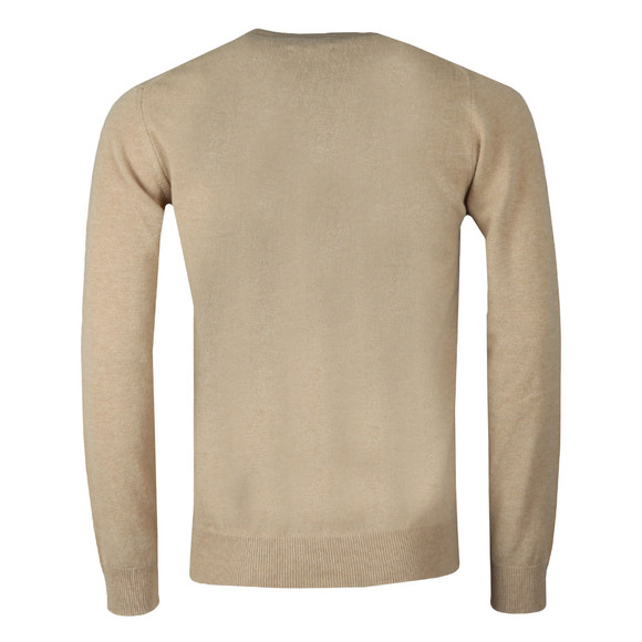 Gant Mens Beige Superfine Lambswool V-Neck Jumper main image