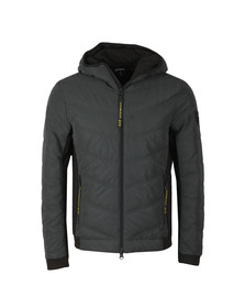 EA7 Emporio Armani Mens Grey Reflective Down Jacket