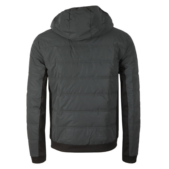 EA7 Emporio Armani Mens Grey Reflective Down Jacket main image