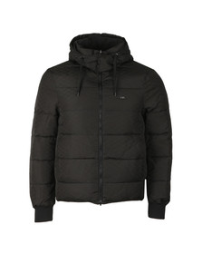 Emporio Armani Mens Black Logo Down Puffer Jacket