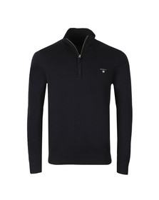 Gant Mens Blue Cotton 1/2 Zip Jumper