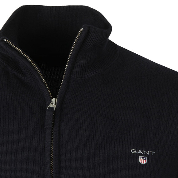 Gant Mens Blue Cotton 1/2 Zip Jumper main image