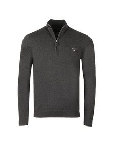 Gant Mens Grey Cotton 1/2 Zip Jumper
