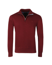 Gant Mens Purple Sacker Rib Half Zip