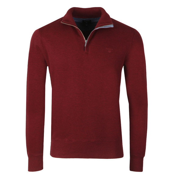 Gant Mens Purple Sacker Rib Half Zip  main image