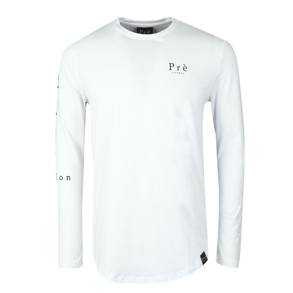 Pre London Mens White Statement Long Sleeve T Shirt main image