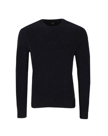 BOSS Casualwear Mens Blue Akynill Jumper