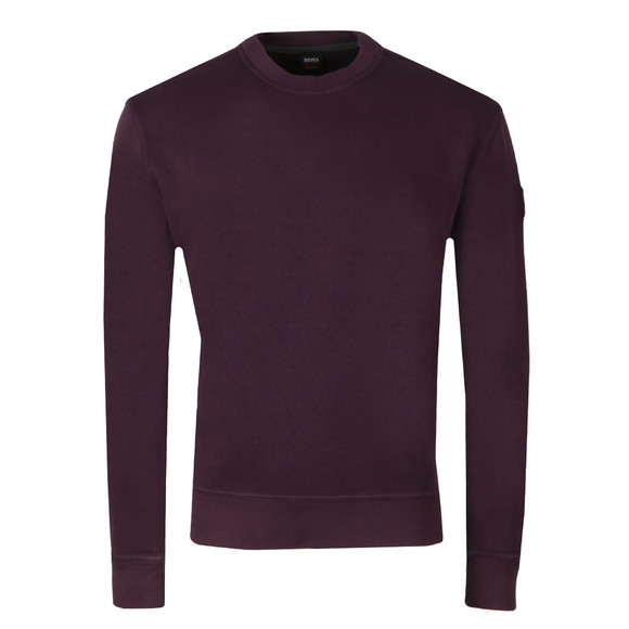 BOSS Mens Purple Casual World Sweatshirt main image