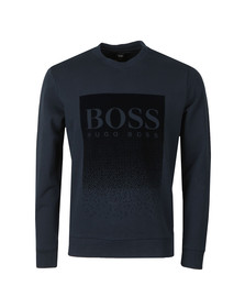 BOSS Mens Blue Casual Wolflike Sweatshirt