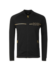 BOSS Bodywear Mens Black Gold Logo Tracksuit Jacket
