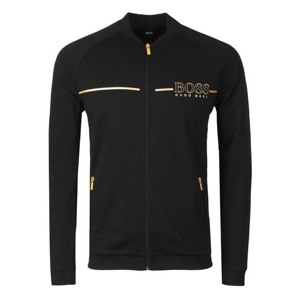 BOSS Bodywear Mens Black Gold Logo Tracksuit Jacket main image