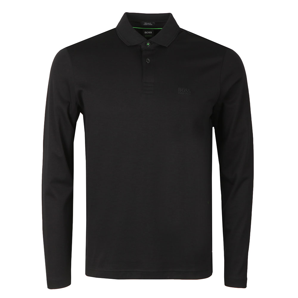 185152f854a7 BOSS Athleisure Pirol Long Sleeve Polo Shirt | Oxygen Clothing