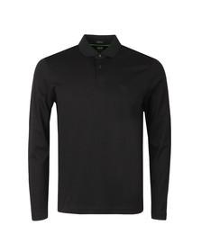 BOSS Mens Black Athleisure Pirol Long Sleeve Polo Shirt