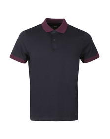 BOSS Mens Blue Casual PMesh Polo Shirt