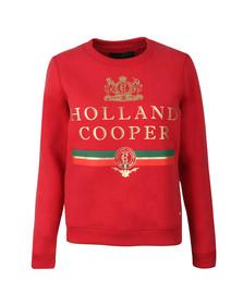 Holland Cooper Womens Red Sportswear  Luxe Stripe Crew Sweat