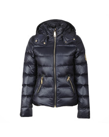 Holland Cooper Womens Blue The Megeve Padded Coat