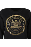 Holland Cooper Womens Black Sportswear Luxe Crest Crew Sweat