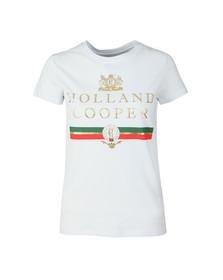Holland Cooper Womens White Sportswear Luxe Stripe Tee