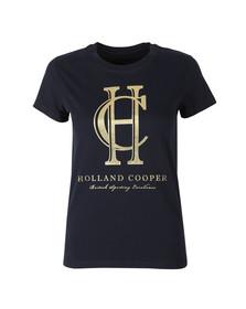 Holland Cooper Womens Blue Sportswear Luxe HC Tee