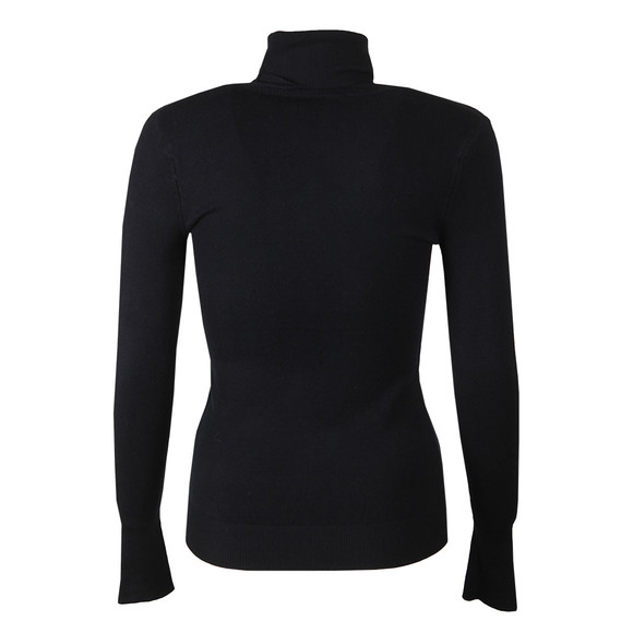 Holland Cooper Womens Blue Buttoned Roll Neck Knit main image