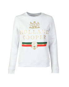 Holland Cooper Womens White Sportswear  Luxe Stripe Crew Sweat