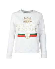 Holland Cooper Womens White Sportswear  Luxe Stripe Crew Sweat