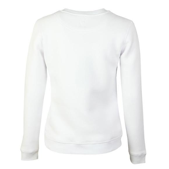 Holland Cooper Womens White Sportswear  Luxe Stripe Crew Sweat main image