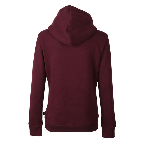 Superdry Womens Red Premium Goods Rhinestone Entry Hoody main image