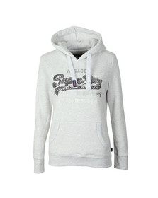 Superdry Womens Grey Premium Sequin Entry Hoody