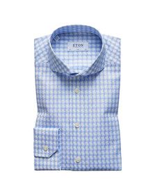 Eton Mens Blue Slim Check Twill Shirt