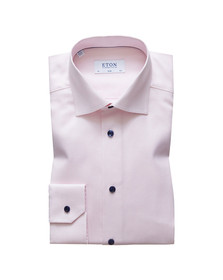 Eton Mens Pink Slim Fit Patterned Shirt