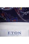 Eton Mens White Signature Twill Paisley Detail Shirt